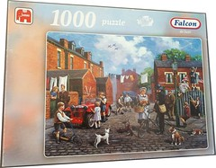 "F ? 1000 ART ?  WARTIME STREETS JUMBO DELUXE (Andrew Reynolds transport view) Tags: jigsaw ""jigsaw puzzle"" picture pieces large difficult falcon hobby leisure pasttime f 1000 art wartime streets jumbo deluxe"