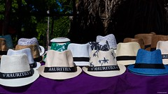 IMGP6532 Hats (Claudio e Lucia Images around the world) Tags: crystalrock lemorne madiana 3 mauritius blackriver sea ocean water bluewater bluwater sky bluesky clouds pentax pentaxk3ii pentaxcamera pentaxlens pentax18135 pentaxart hats souvenir gift market fleamarket îleauxbenitiers