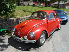 1973 VW 1303 (occama) Tags: ppf211l 1973 vw 1303 beetle volkswagen red old car cornwall uk super