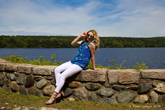 Hailey @ The Quabbin (Peter Camyre) Tags: peter camyre portrait photography outdoor female teenage model pretty blonde beauty beautiful quabbin reservoir friend people picture face hair eyes fashion summer casual
