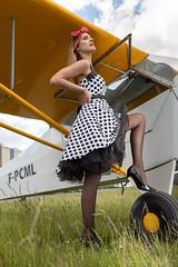 Christelle (fab spotter) Tags: pinup avions exterieur shooting younggirl sexy blond brunette spitfire j3 panties girls