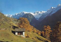Postkarte / Schweiz (micky the pixel) Tags: postkarte postcard ephemera schweiz suisse switzerland soglio silsimbergell kantongraubünden grischun landschaft landscape alpen alps