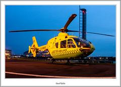 G-SSKX Eurocopter EC-135 (flatfoot471) Tags: 2008 normal scotland unitedkingdom glasgow dusk helicopter finnieston sciencecentre january eurocopter ambulance ec135 urban govan helipad cityofglasgow