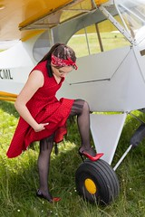 Morgane (fab spotter) Tags: pinup avions exterieur shooting younggirl sexy blond brunette spitfire j3 panties girls