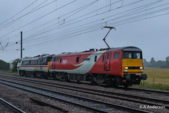 91115 20190611 Biggleswade (steam60163) Tags: lner intercity class91 biggleswade 91115 91119 double91 light91 bluntend91