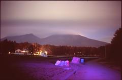 (✞bens▲n) Tags: leica m4 velvia 100 summilux 50mm f14 film analogue night longexposure stars asama mountain purple light fields japan nagano