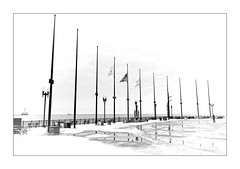 Chicago Navy Pier (Jean-Louis DUMAS) Tags: urbanisation urbanisme urban town darkness dark architecture shot tour chicago ville neige snow hiver winter drapeau flag sony art batiment twop noretblanc award monochrome noir blanc black white bn bnw nb ngc blackwhitephotos blackwhite blackandwhite highkey