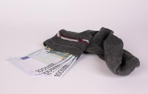 Money in a sock