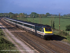 FGW HST No 43009 Cogload Junction with the 0506 Penzance-Paddington 4th May 2002 (robinstewart.smith) Tags: fgw hst cogload junction 2002