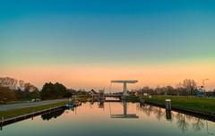 Schoorldammerbrug. (Alex-de-Haas) Tags: adobelightroom aurorahdr aurorahdr2019 dji dutch fc6310 hdr holland n9 nederland nederlands netherlands noordholland noordhollandschkanaal p4p phantom phantom4 phantom4pro rc schoorldam schoorldammerbrug skylum warmenhuizen westfrisia westfriesland aerial aerialphotography air beautiful beauty bridge brug canal drone dusk kanaal landscape landschaft landschap lente lucht luchtfotografie polder quadcopter reflectie reflection schemer schemering skies sky spring sundown sunset water zonsondergang northholland