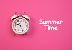 Alarm clock with Summer Time text (wuestenigel) Tags: summer alarm object pink concept alarmclock time clock late background bell white zeit noperson keineperson uhr wecker deadline frist number nummer pressure druck timer h retro business geschäft watch sehen midnight mitternacht urgency dringlichkeit reminder erinnerung conceptual konzeptionelle countdown minute classic klassisch isolated isoliert alert warnen2019 2020 2021 2022 2023 2024 2025 2026 2027 2028 2029 2030