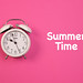 Alarm clock with Summer Time text