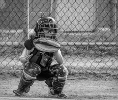 Catcher.......Explore #6 (Kevin Povenz Thanks for all the views and comments) Tags: 2019 june kevinpovenz michigan person boy child ryland cather baseball sports sport screen fence blackandwhite bw canon7dmarkii sigma150600 helmet glove young glasses