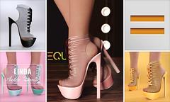 EQUAL - Linda Ankle Boots (EQUAL SL) Tags: secondlife shoes slink maitreya belleza legacy heels black equal