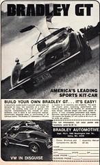 1974 Bradley GT Volkswagen Kit Car USA Original Magazine Advertisement (Darren Marlow) Tags: 1 4 7 9 19 74 1974 b bradley g t gt vvolkswagen k kit c car cool collectible collectors classic a automobile vehicle 70s