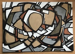 XIII (Peter Rea 13) Tags: art artist drawing ink abstract urban expressionism streetart graffiti geometric shapes design artwork