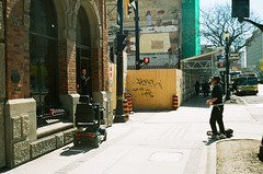 """Stay over there (Xsbmrnr (Please read profile before """"following"""") Tags: colour color colorfilm colourfilm downtown film filmphotography hamilton hamiltonontario kodak people photojournalism street streetphotography streetpeople urban urbanphotography portra800 portra yashica yashicaelectro35"""