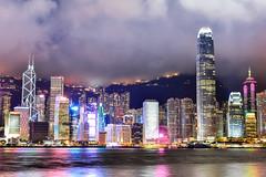 香江夜_1(DSC_4148) (nans0410(busy)) Tags: hongkong building cityscape nightview lighting aveofstars tsimshatsui 香港 建築物 星光大道 星光碼頭 城市景觀 夜景 尖沙咀 九龍半島