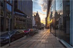 Atardecer en Glasgow (Fernando Forniés Gracia) Tags: granbretaña reinounido escocia glasgow calle street paisajeurbano ocaso contraluz
