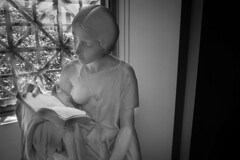 A Moment to Myself (BenBuildsLego) Tags: wallpaper art museum black white girl marble sculpture escultura statue beautiful nude female woman reading book read italian european washington dc national gallery breast