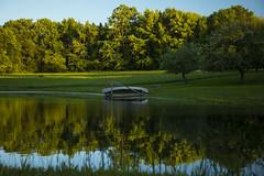 Summer Daze (Matt Champlin) Tags: summer boat canoe pond farm home peaceful tranquil evening beautiful sunny green lush canon 2019 nature outdoors landscape
