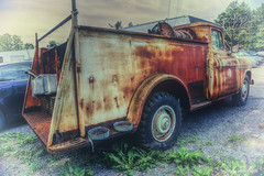 Former Emergency Vehicle (* Gemini-6 * (on&off)) Tags: vintage hdr faded vignette truck chevrolet chevy rust patina decay wideangle vehicle transportation hss