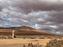 Near Hawker, Flinders Ranges (Marian Pollock) Tags: iphone flindersranges arid landscape australia southaustralia mountain clouds sunshine scrub ruin historic