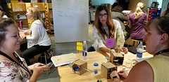 Building their own Cardboard Automata (JimTiffinJr) Tags: workshop makered fuse19 fuse mvifi provocations maker