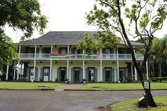 French Colonial Architecture (Rckr88) Tags: pamplemousses mauritius french colonial architecture frenchcolonialarchitecture colony arch buildings building botanicalgardens botanical botanicalgarden garden gardens green grass greenery travel travelling trees tree