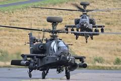 "Pair of AAC Apache's callsign ""Prowler 1 &2"" arrive for refuel. (scobie56) Tags: westland apache ah1 gunship aac army air corps wattisham scottish borders northumberland"
