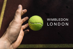 "Hand wirft zum Aufschlag einen Tennisball, neben dem Namen des britischen Tennisturniers ""Wimbledon London"" (verchmarco) Tags: tennis activity court competition ball sport outdoors closeup yellow hand tennisball drausen noperson keineperson wettbewerb recreation erholung health gesundheit one ein exercise übung leisure freizeit horizontal sportsequipment sportausrüstung nature natur isolated isoliert man mann active aktiv gericht people menschen woman frau indoors drinnen2019 2020 2021 2022 2023 2024 2025 2026 2027 2028 2029 2030 kodak dawn seascape vowel ice camera day village restaurant xmas"