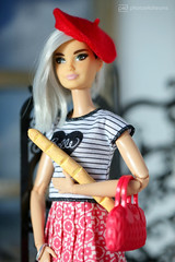 the french girl (photos4dreams) Tags: dress barbie mattel doll toy photos4dreams p4d photos4dreamz barbies girl play fashion fashionistas outfit kleider mode puppenstube tabletopphotography diorama scenes 16 canoneos5dmark3 white hair juliet