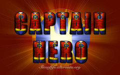 Captain Hero (group affiliation: none) (blindsuperhero) Tags: marvel superheroes texteffect wallpaper background dccomics captainhero bobbywright costume character