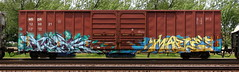 Task/Maple (quiet-silence) Tags: graffiti graff freight fr8 train railroad railcar art task maple tm tci boxcar wsor wsor120021