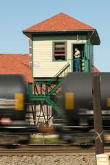 17-4531 (George Hamlin) Tags: ohio marion railroad interlocking tower ac restored freight train tank cars roll by sky track structure photodecor george hamlin photography