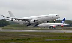 HiFly 9H-AGU + SAS LN-RKP ,OSL ENGM Gardermoen (Inger Bjørndal Foss) Tags: 9hagu hifly lnrkp sas scandinavian airbus a330 a340 osl engm gardermoen