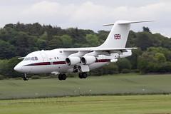 RAF 146  ZE701 (TF102A) Tags: aviation aircraft airplane prestwick prestwickairport raf bae146 ze701