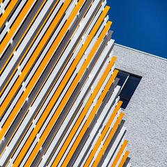 Hidden window (jefvandenhoute) Tags: belgium belgië antwerp antwerpen nieuwzuid colors wall windows shapes light