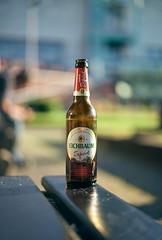 Eichbaum Export (ckilger) Tags: leicam10 mannheim fusgängerzone summiluxm11450asph farbe color eichbaum export bier bierflasche flasche bokeh bank paradeplatz