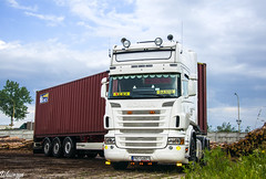 Scania R II Topline | Łosiu (PL) (Wawrzyn) Tags: truck container scania topline containerexpress holland photography nikon poland passion trucks trailer 18105 truckspotting d3300 hollandstyle