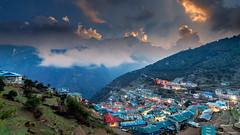 Namche Bazar (Neha & Chittaranjan Desai) Tags: namche bazar village nepal everest base camp landscapes travel cityscapes himalayas mountains kongde ri thamserku