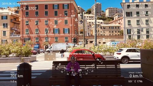 Étape 43 -  Arenzano - Genova - Boussole pointant vers l'atelier de Ridha Dhib, vis-à-vis de la ville de Sousse