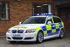 FJ12 KPV (S11 AUN) Tags: leicestershire leics police bmw 330d estate touring anpr traffic car advanced driver training drivingschool pursuit trainer rpu roads policing unit 999 emergency vehicle fj12kpv