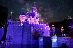Sleeping Beauty Castle Makeover (Disney Digitally) Tags: sleepingbeautycastle disneyland disney fantasyland anaheim california night stars digitalimaging hdr photoshop photomatix canon 7d sigma 1835