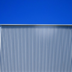 White Wall (YIP2) Tags: abstract minimal lines simple detail minimalism surface line wall graphical pattern graphic facade accidental urban details architecture less linea geometry design square stripes carre construction repetition urbandetail blue