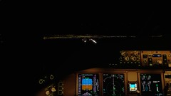 [P3D v4.5] Final app 28L | SFO | UAL838 (danielrds) Tags: p3d prepar3d pmdg b77w t7 vatsim sfo ksfo nrt rjaa japan usa flight night morning