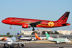 OO-SNA   Brussels Airlines Airbus A320-214   Lisbon Humberto Delgado Airport LPPT/LIS   26/05/19 (MichaelLeung213) Tags: oosna brussels airlines home belgian red devils special livery airbus a320 a320214 a320200 lisbon humberto delgado airport lppt lis landing plane spotting aircraft airplane runway spotato photography belgium