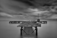 End of a pier (frattonparker) Tags: afsnikkor28300mmf3556gedvr btonner cs6 isleofwight lightroom6 longexposure ndfilter nikond810 raw solent frattonparker sky sea clouds cirrus cumulus cirrocumulus cumulonimbus altocumulus stratus stratocumulus silverefexpro2 remoterelease tripod neutraldensityfilter derelict abandoned disused nisi11stopndfilter