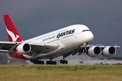 Qantas Airbus A380-842 (rengawfalo) Tags: airbus a380 vhoqe airbusa380842 dresden eddc efw flugzeug flughafen flieger airbus380 plane spotter spotting airport aviation airplane aircraft jet engine qantas spiritofaustralia take off takeoff
