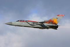 F-3 ZE735 departing RAF Leuchars. (scobie56) Tags: panavia tornado f3 ze735 tg 56 reserve squadron firebirds raf royal force leuchars fife scotland air